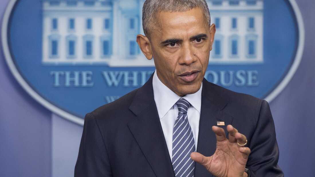 President Obama speaks during a news conference at the White House Monday.