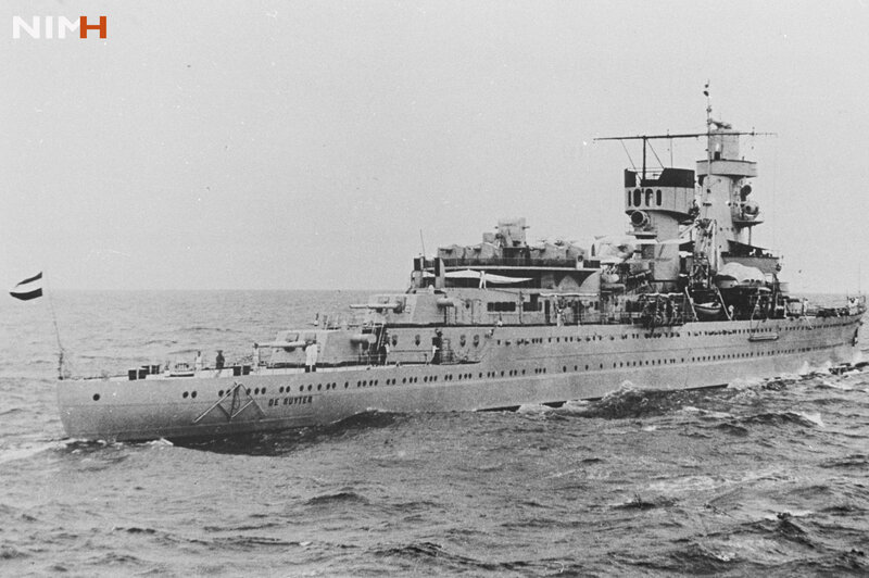 HNLMS De Ruyter before it sank in 1942