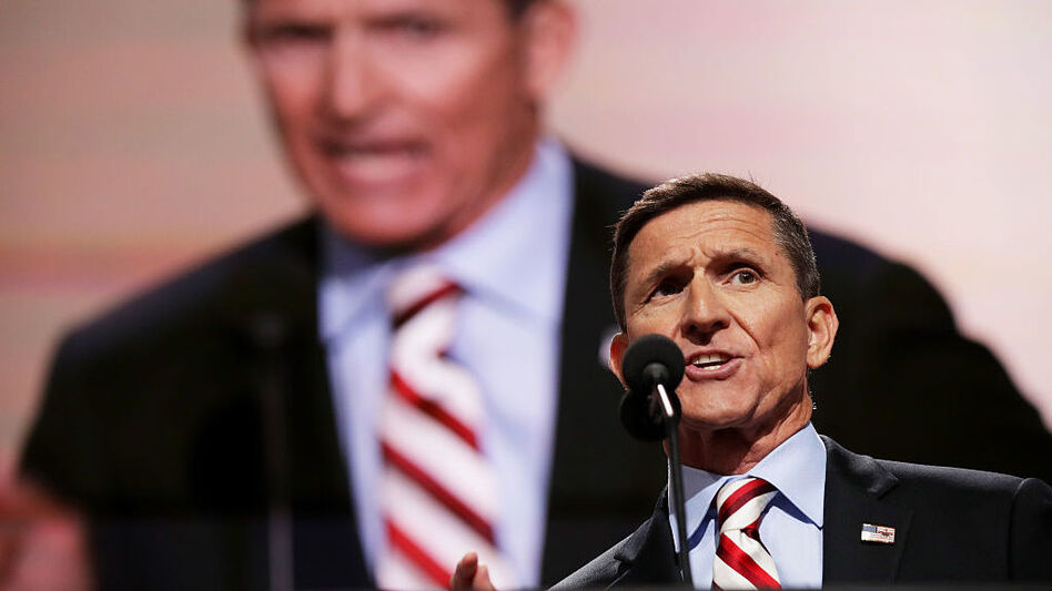 Retired Army Lt. Gen. Michael Flynn spoke at the Republican National Convention in Cleveland in August in support of Donald Trump. (Chip Somodevilla/Getty Images)