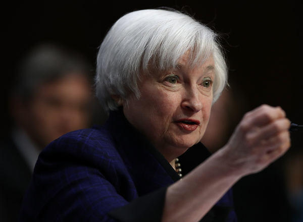 Federal Reserve Board Chair Janet Yellen told Congress on Thursday she didn't agree with President-elect Donald Trump's plans for more infrastructure spending and less banking regulation.