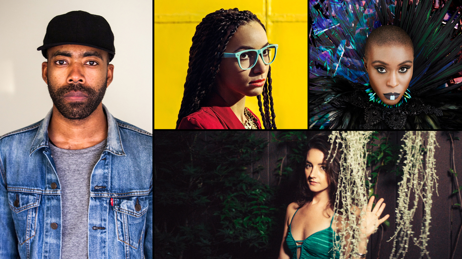 Clockwise from left: Corey King, Esperanza Spalding, Laura Mvula, Michaela Anne. (Courtesy of the artists)