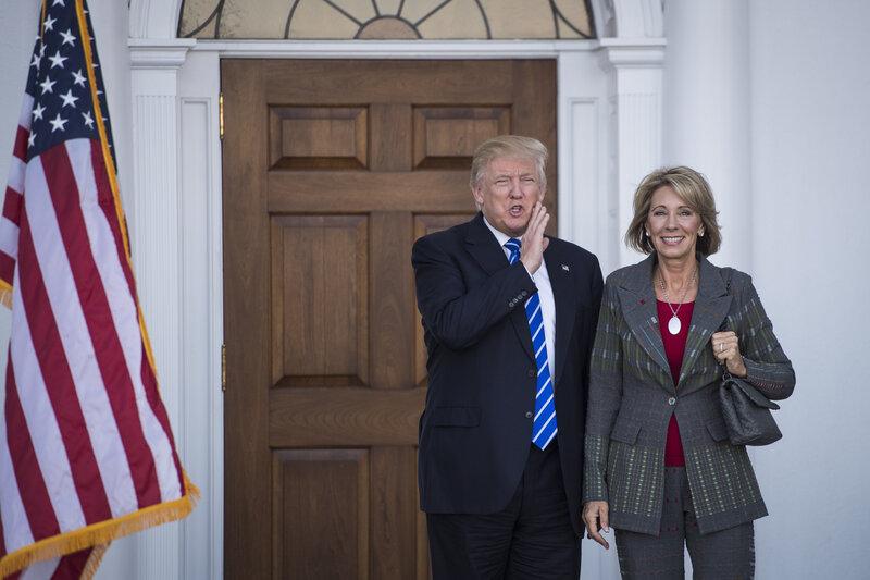 Betsy Devos Trumps Education Pick Plays >> Trump Chooses Betsy Devos For Education Secretary Npr Ed Npr