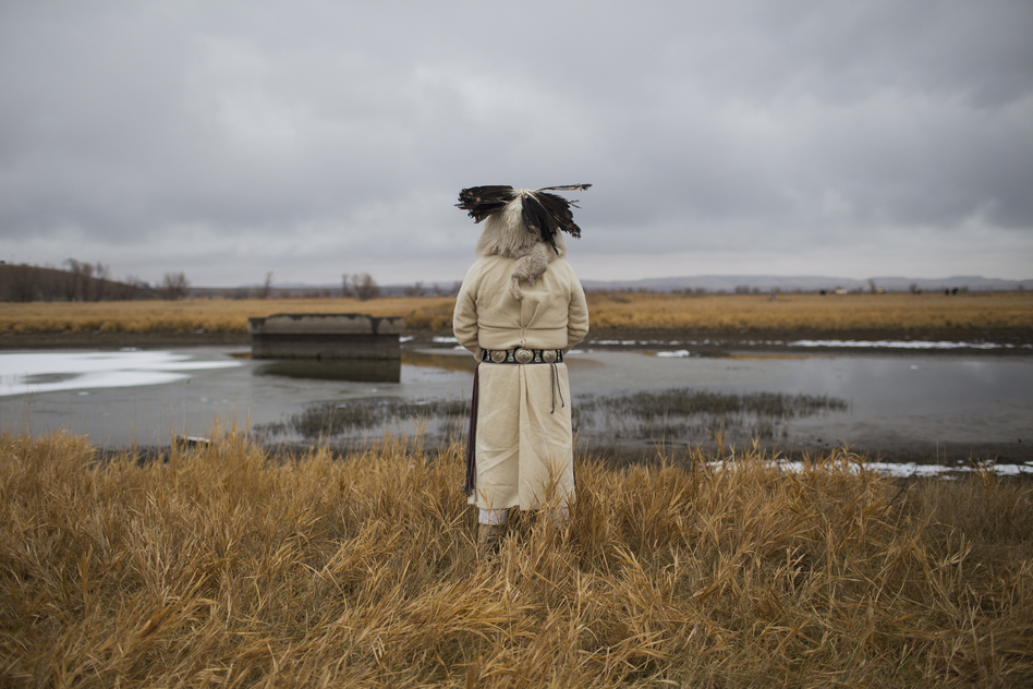 An elder looks out to Turtle Island. (Cassi Alexandra for NPR)