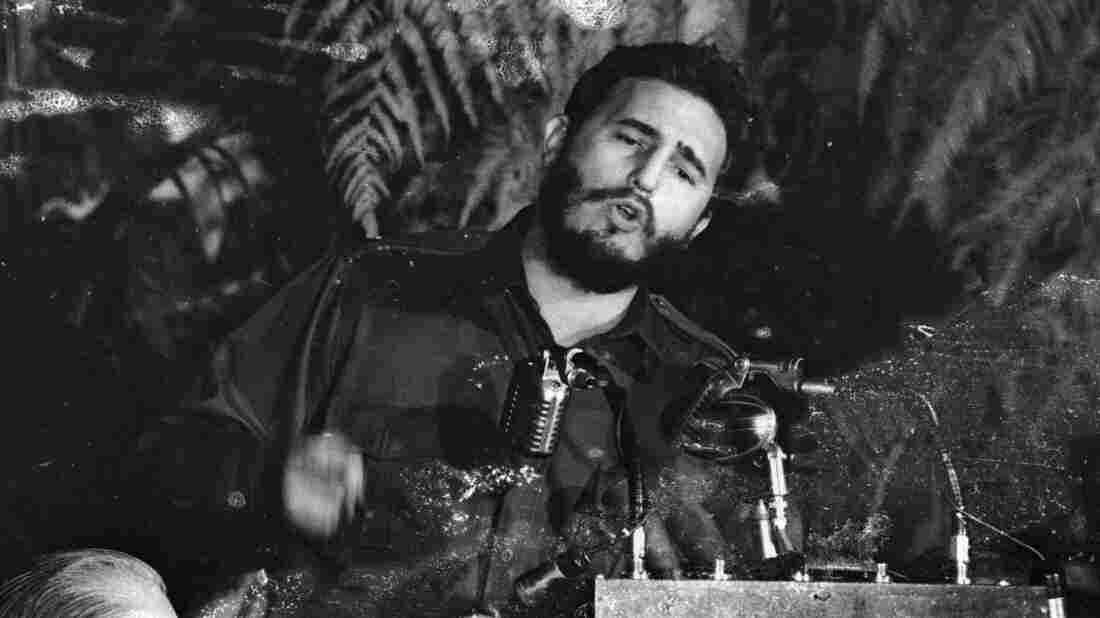 April 1959: Fidel Castro of Cuba addresses the American Society of Newspaper Editors during a meeting in the U.S.