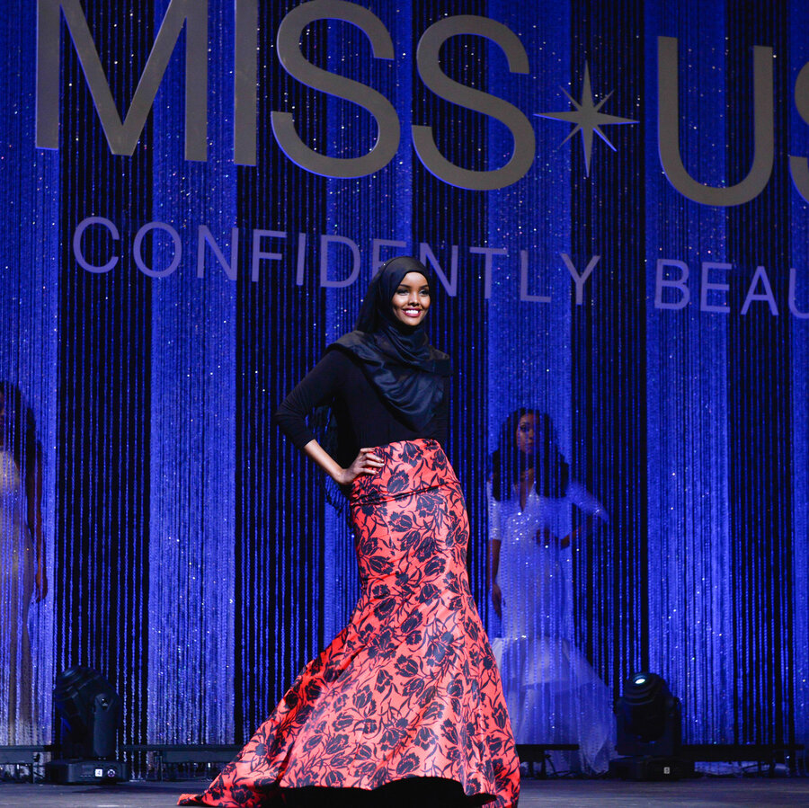 contestant in miss minnesota usa beauty pageant wore a burkini and enlarge this image