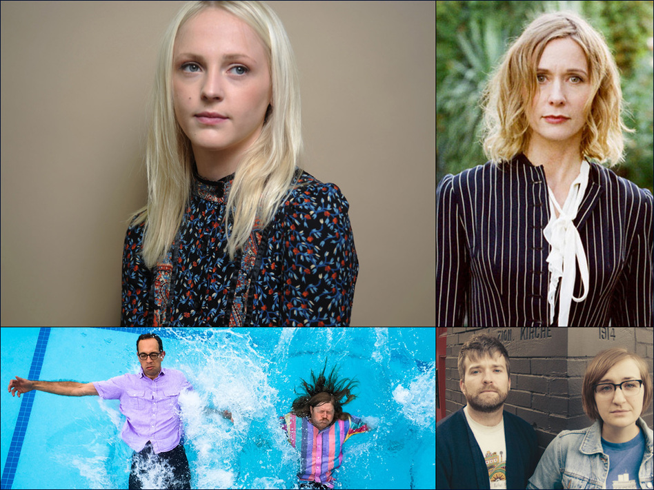 Clockwise from upper left: Laura Marling, Sam Phillips, Bed., Peals