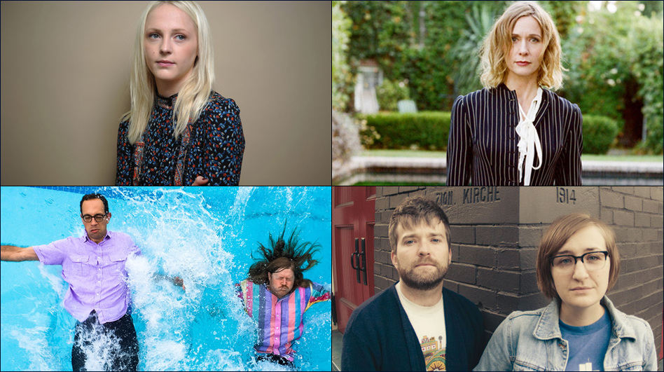 Clockwise from upper left: Laura Marling, Sam Phillips, Bed., Peals (Courtesy of the artists )