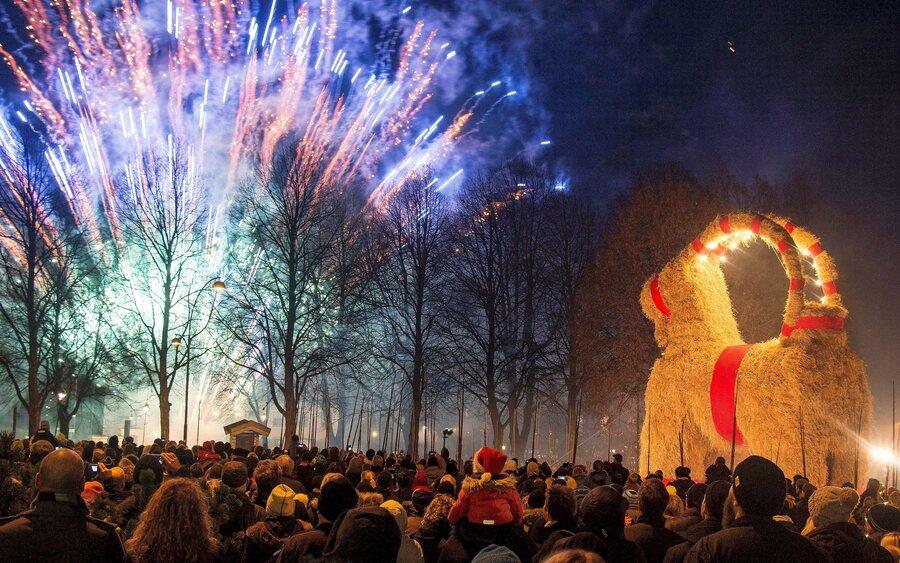 Perayaan Tradisi Natal Paling Unik, tema natal. info unik, malam natal, tradisi natal di seluruh dunia , gavle goat