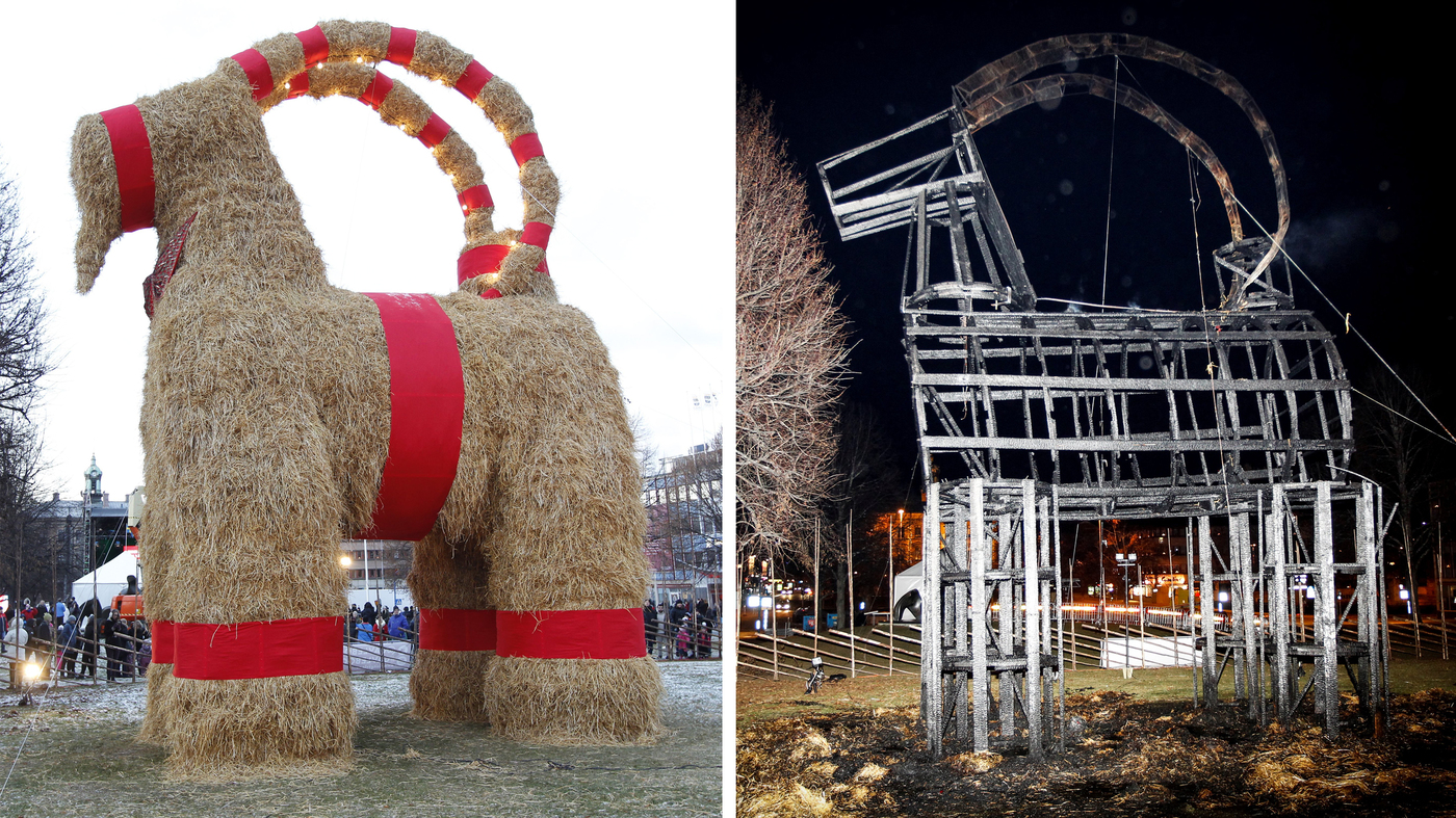 Car Talk Podcast >> Swedish Revelers Get Their Goat — Again — As Holiday ...