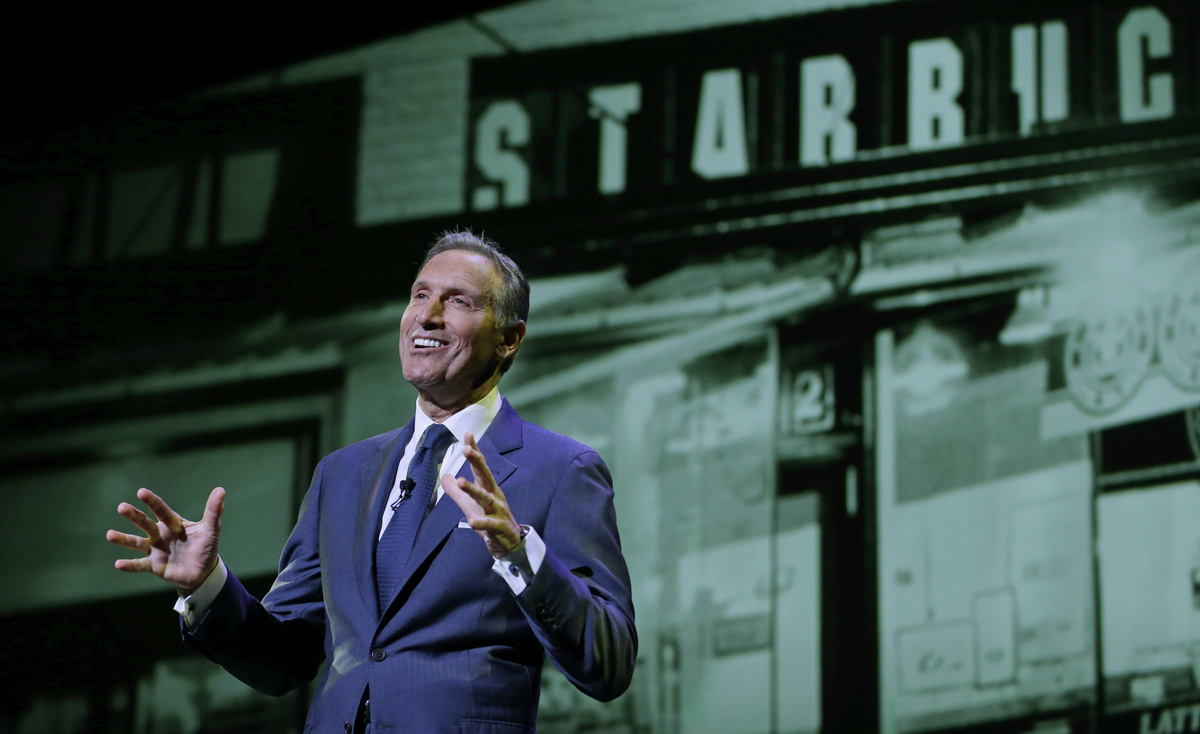 leadership of howard schultz 7 howard schultz leadership style principles 08/30/2015 / in careers / by joseph chris when it comes to one of the most successful businesses in the world, starbucks will definitely be on the list, with its chairman and ceo howard schultz on its helm.