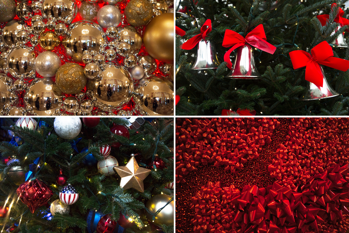 most of the decoration designs this year use repurposed ornaments and embellishments that were already part of the white house holiday inventory