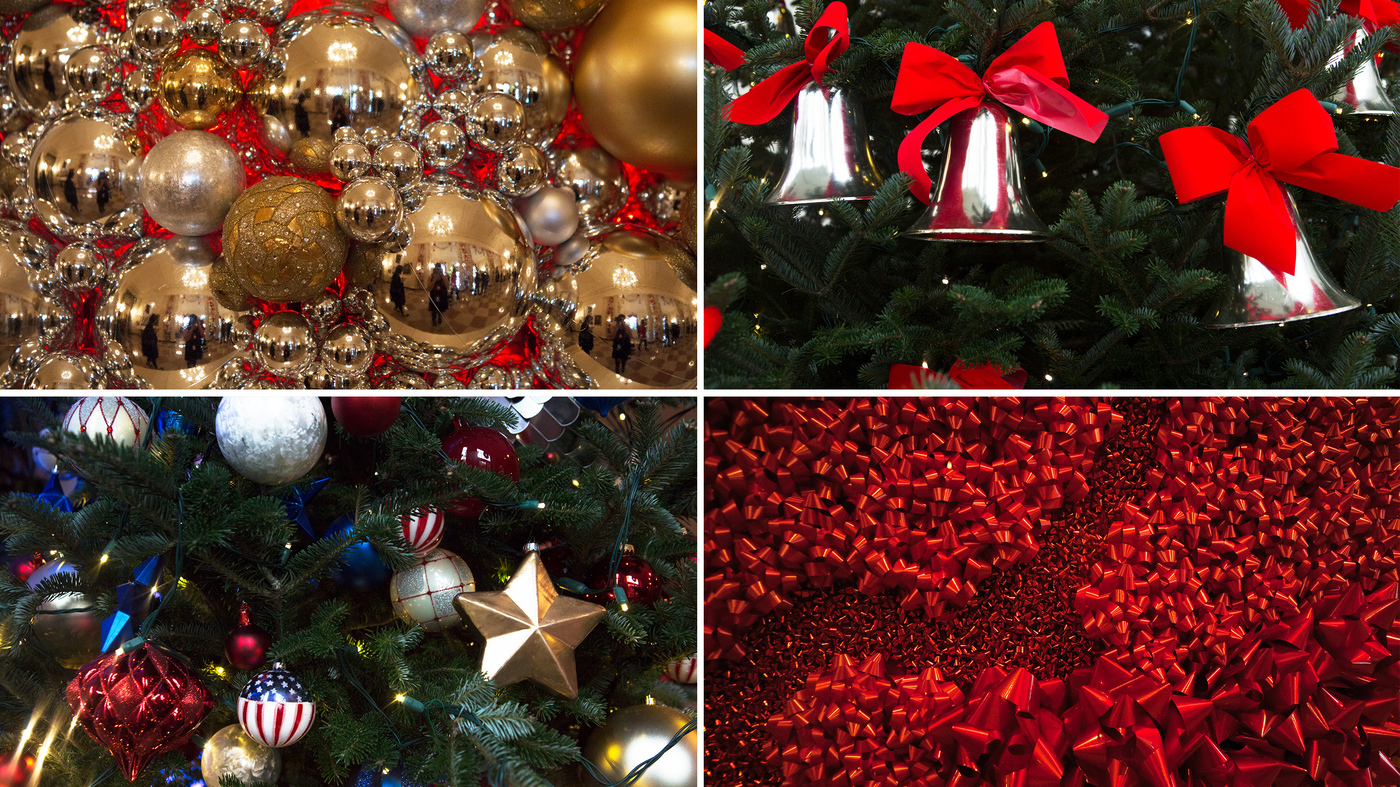 See What The Last Obama White House Holiday Decorations Look Like : NPR