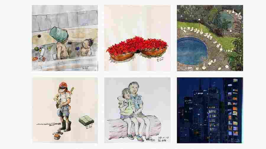 Instagramps: Long-Distance Grandpa's Art Carries His Love Across The World