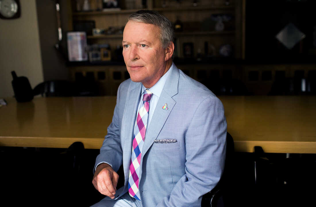 Orlando Mayor Buddy Dyer poses for a portrait in his Orlando office on Aug. 17, 2016.
