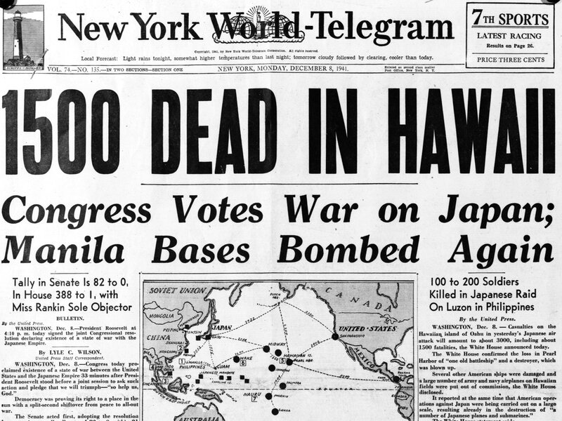 Did You Know Pearl Harbor Happened >> A Fake Story That Lives On No Fdr Did Not Know The Japanese Were