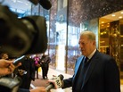 Former Vice President Al Gore talks to the media after meeting with President-elect Donald Trump at Trump Tower on Monday in New York City.
