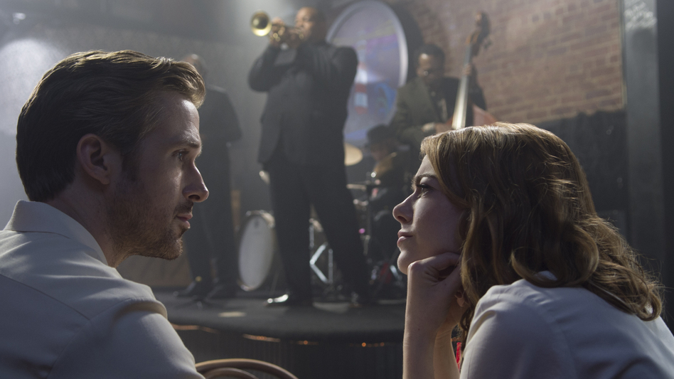 Sebastian (Ryan Gosling) and Mia (Emma Stone) in <em>La La Land</em>. (Dale Robinette/Courtesy of Lions Gate)