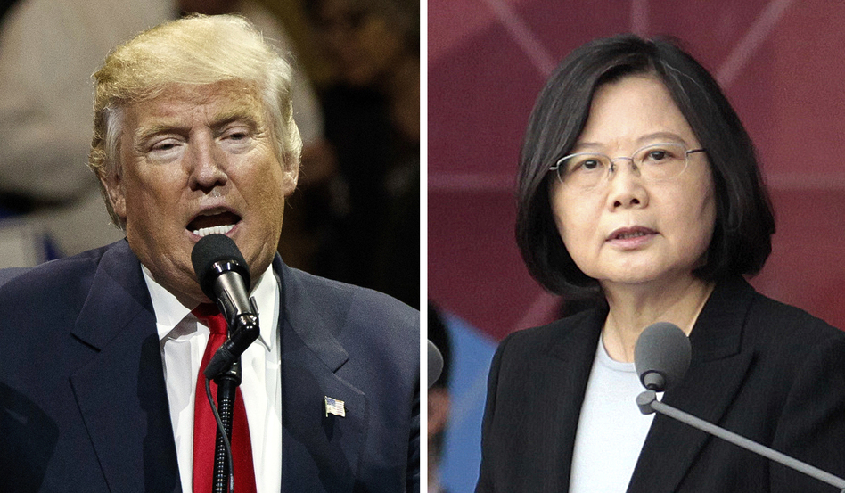 "President-elect Donald Trump spoke last Friday with Taiwan's President Tsai Ing-wen. In her first public comments, Tsai said Tuesday that observers should not read too much into the conversation. ""I do not foresee major policy shifts in the near future,"" she told Western journalists. (Evan Vucci, Chiang Ying-ying/AP)"