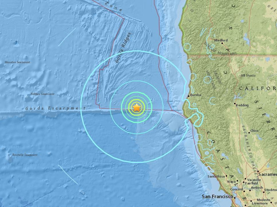 5 magnitude quake hits off the coast of Ferndale