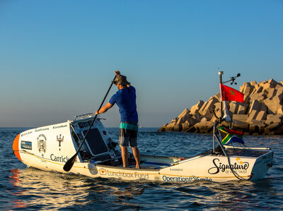 A Surfer And His Paddleboard Embark On A Lonely Trans-Atlantic Voyage