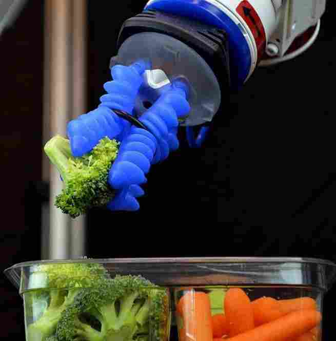Grippers by Soft Robotics can handle food items.