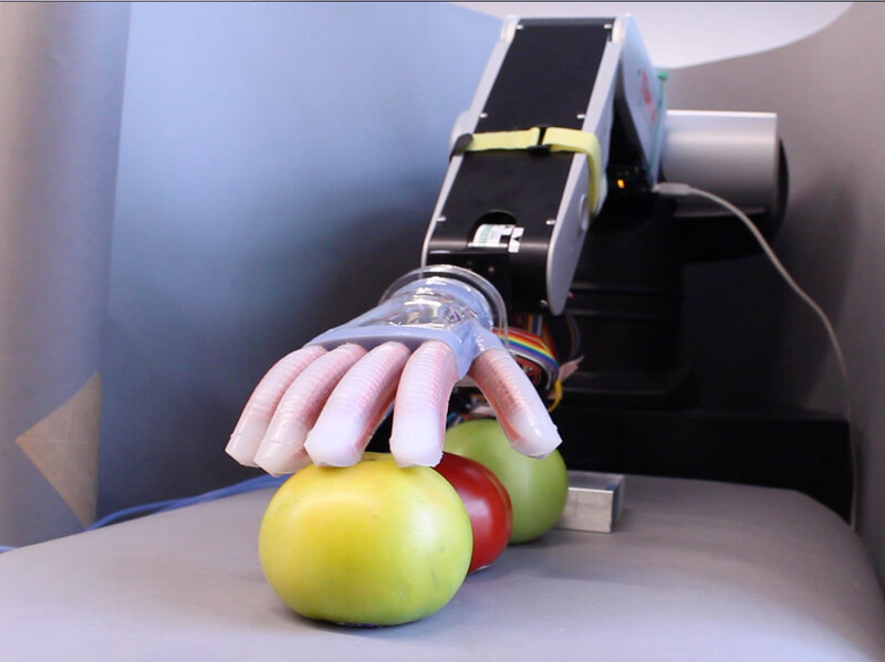 Soft Robot Hand Can Sense What It Touches Holds Promise For