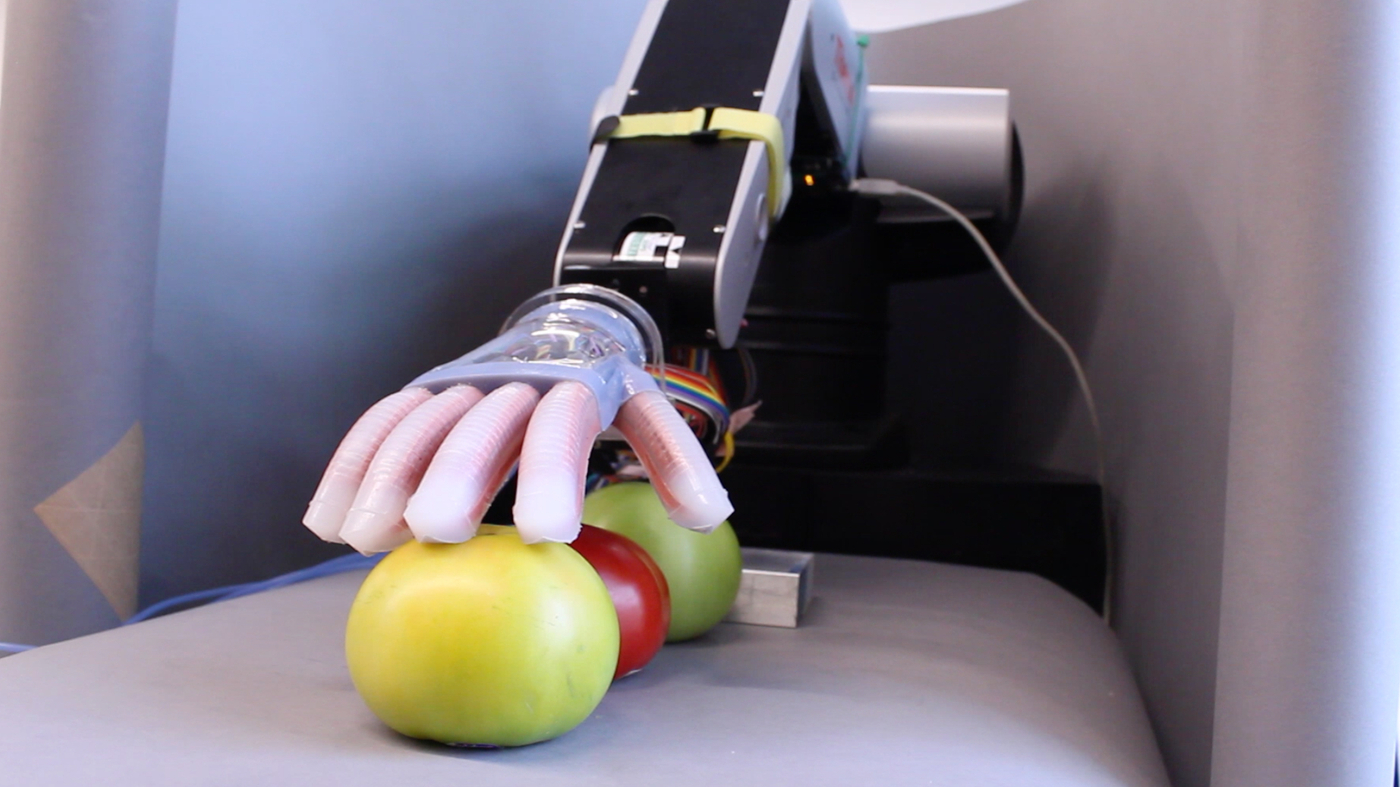 Soft Robot Hand Can Sense What It Touches Holds Promise