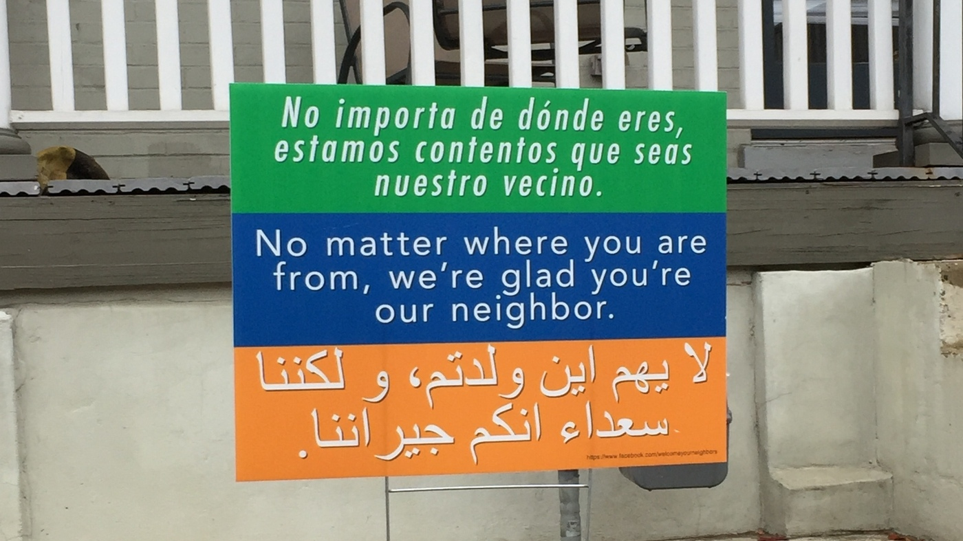 A message of tolerance and welcome spreading from yard to yard a message of tolerance and welcome spreading from yard to yard the two way npr m4hsunfo