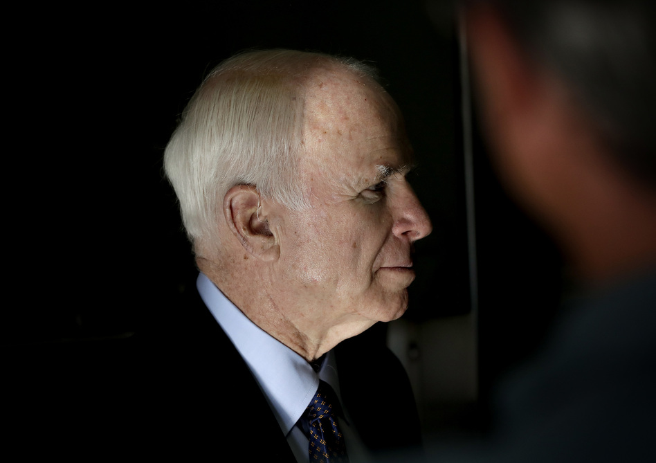 Sen. John McCain, R-Ariz., in Phoenix. (Matt York/AP)