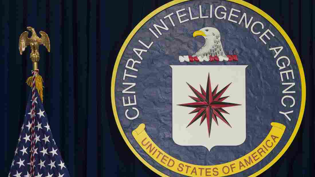 The logo of the Central Intelligence Agency at CIA Headquarters in Langley, Virginia, April 13, 2016.