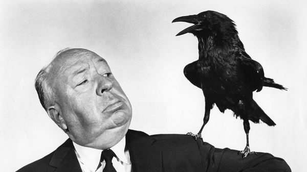 British director and producer Alfred Hitchcock promotes his 1963 movie The Birds, which has just been selected for the National Film Registry.