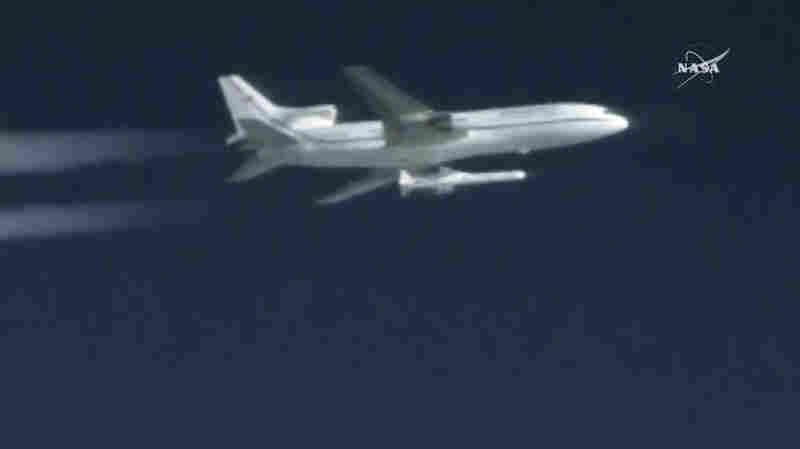 WATCH: NASA Rocket Deploys 'Satellite Constellation' After Unique Air-Launch