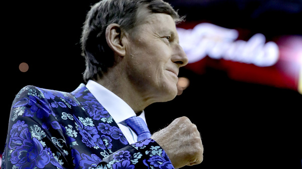 Craig Sager, on the sidelines of the 2016 NBA Finals.