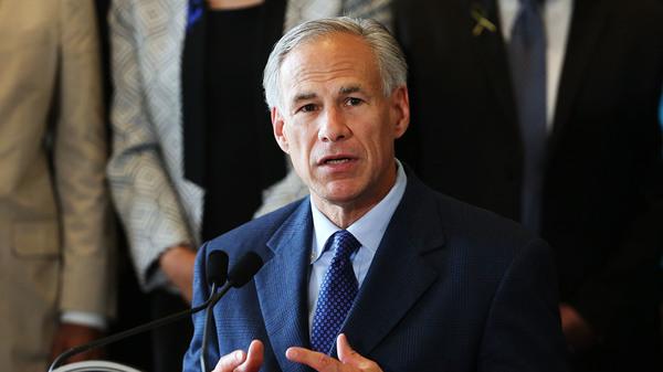 Texas Gov. Greg Abbott at Dallas