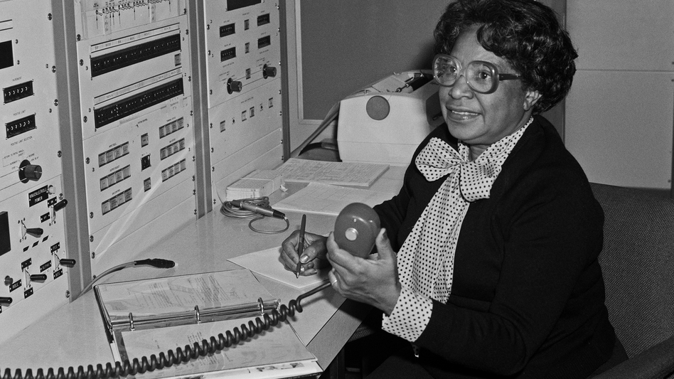 """According to NASA, Mary Jackson """"may have been the only black female aeronautical engineer in the field"""" in the 1950s. Singer and actress Janelle Monáe plays her in the film <em>Hidden Figures</em>. (Bob Nye/Courtesy of NASA Langley)"""