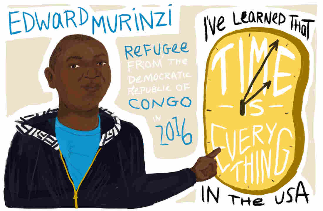 Edward Murinzi is a refugee from the Democratic Republic of Congo.