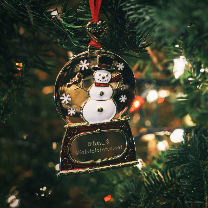 a christmas tree ornament is worth a thousand words