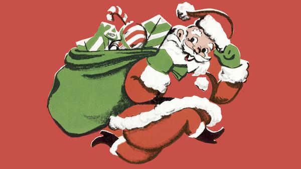Cartoon Santa.