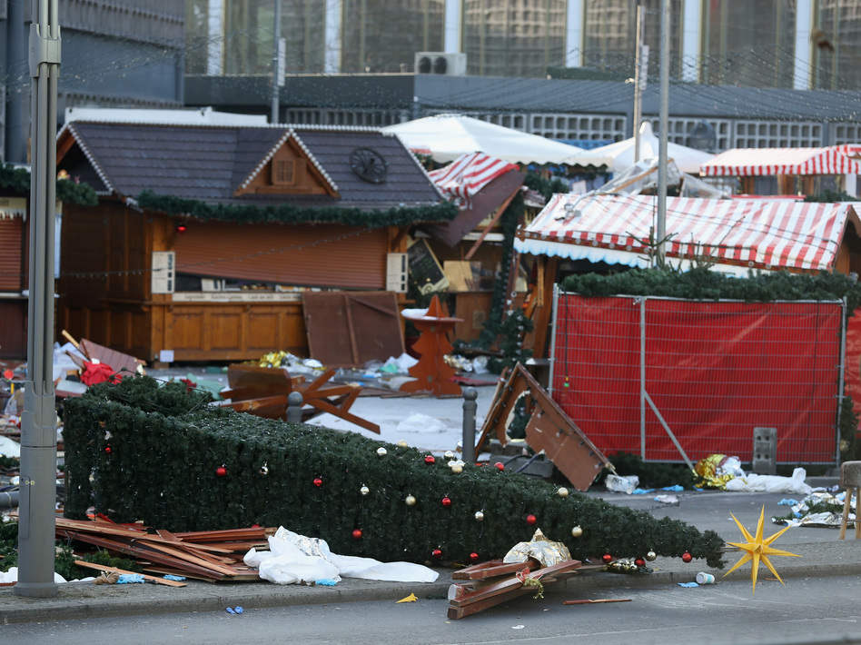 The Christmas market in Berlin was targeted in Monday's attack by a man driving a heavy truck into an area crowded with shoppers.