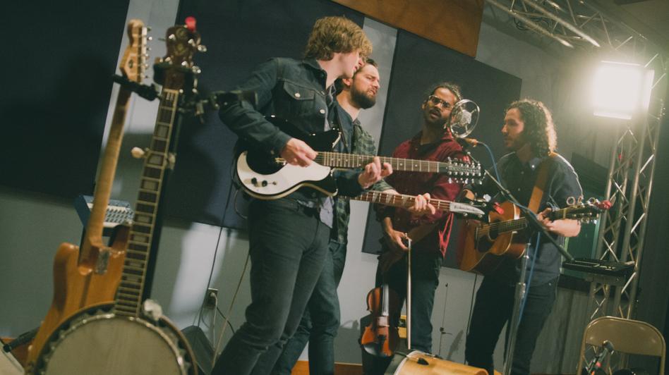 Darlingside performs live in World Cafe's studio in Philadelphia. (WXPN)
