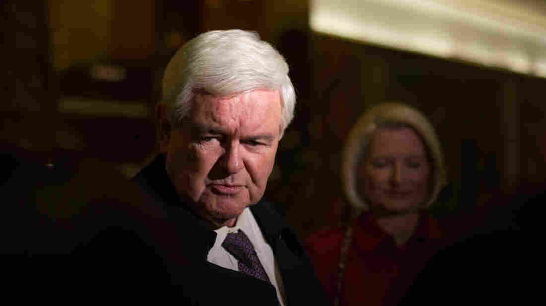 Former House Speaker Newt Gingrich addresses the press following his visit with President-elect Donald Trump at Trump Tower in New York City on Nov. 21.