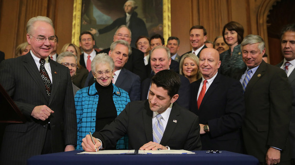 House Speaker Paul Ryan signed legislation to repeal the Affordable Care Act on Jan. 7, 2016. President Obama vetoed the bill, but the new administration could open the door for change.