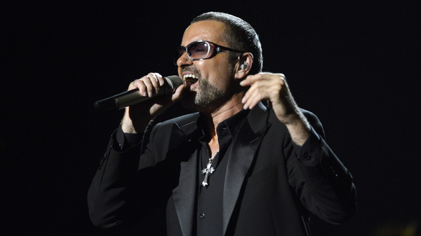 George Michael performs a charity concert for Sidaction, an AIDS nonprofit, at the Palais Garnier opera house in Paris in 2012.