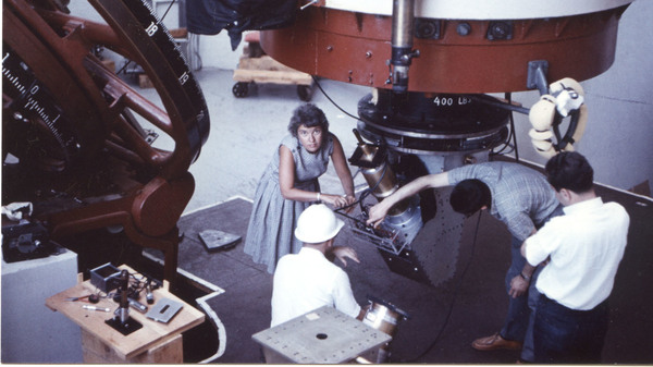 Vera Rubin works at the Lowell Observatory in Flagstaff, Ariz., in 1965.