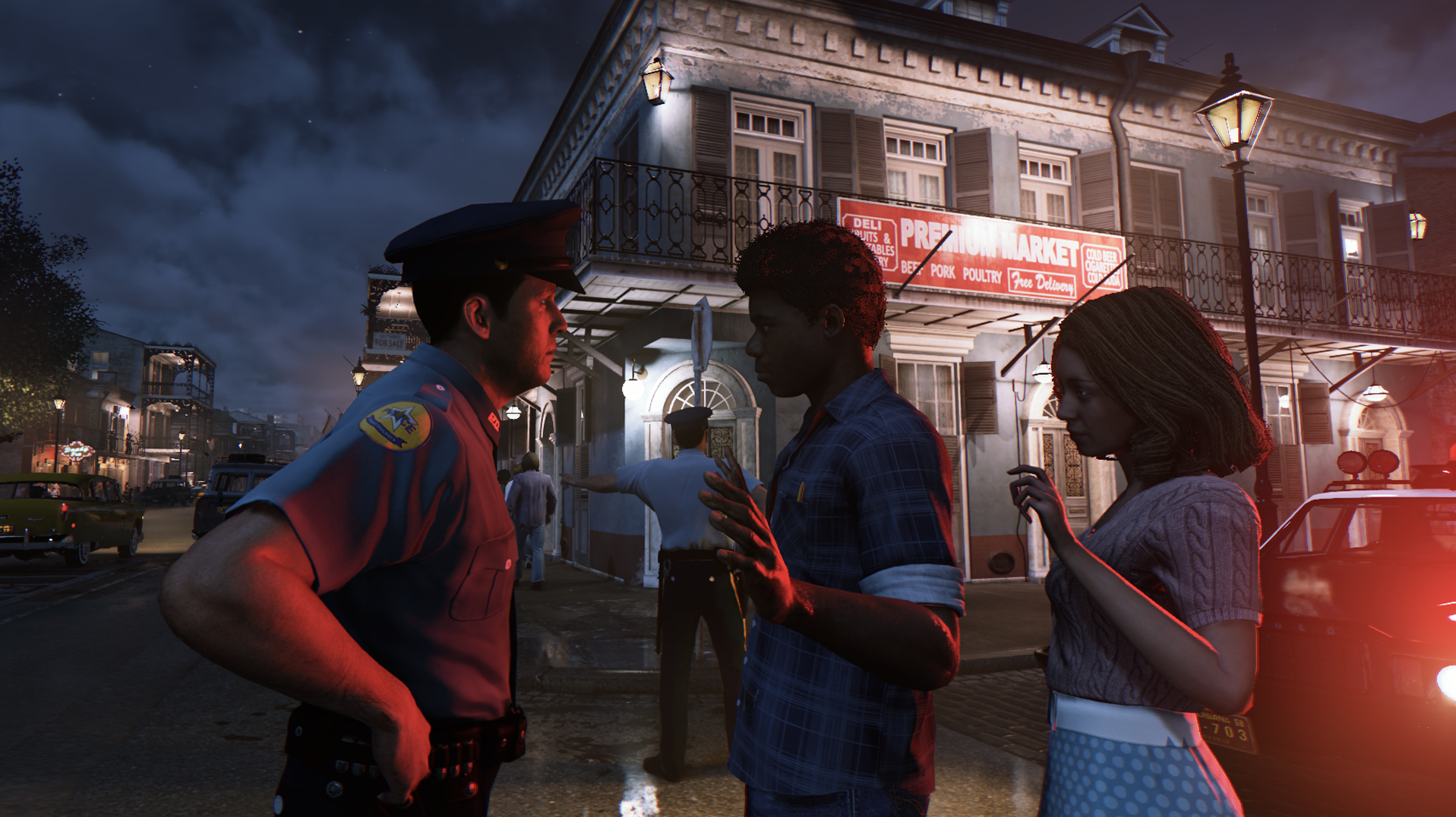 Throughout the game, players encounter instances of direct confrontations between law enforcement authorities and the black populace. Courtesy of 2K Games
