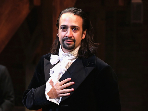 """Lin-Manuel Miranda performs on <em>Hamilton</em>'s opening night in August 2015. """"It was an enormous challenge to do that show every night,"""" he says."""