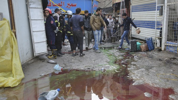 A crowded market in central Baghdad became the site of a double bombing Saturday morning. The Islamic State is thought to be responsible.