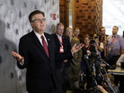 """Texas Lt. Gov. Dan Patrick speaks during a news conference at the Texas Republican Convention on May 13, 2016, in Dallas. There is a """"bathroom bill"""" proposal in the Texas legislature that could require transgender Texans to use the restroom which corresponds to the gender on their birth certificate."""