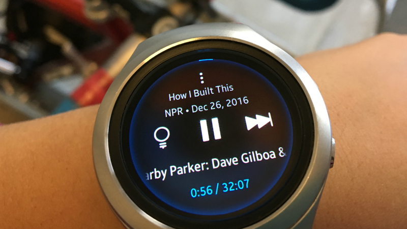 NPR One on the Samsung Gear smartwatch