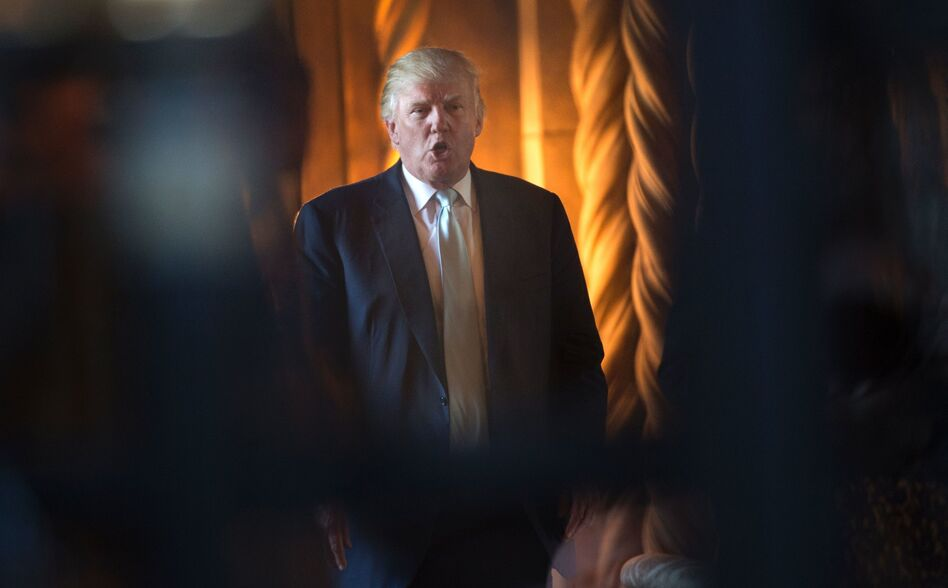 President-elect Donald Trump is at odds with leaders in his own party over how to respond to cyberattacks that U.S. intelligence has tied to Russia. (Don Emmert/AFP/Getty Images)